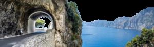 The beautiful Amalfi Coast Road
