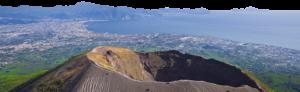 Sorrento Coast and Capri from Vesuvius volcano