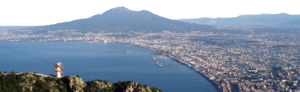 The gulf of Naples from the summit of Mount Faito