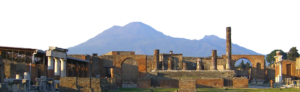 Vesuvius over the ruins of Pompeii